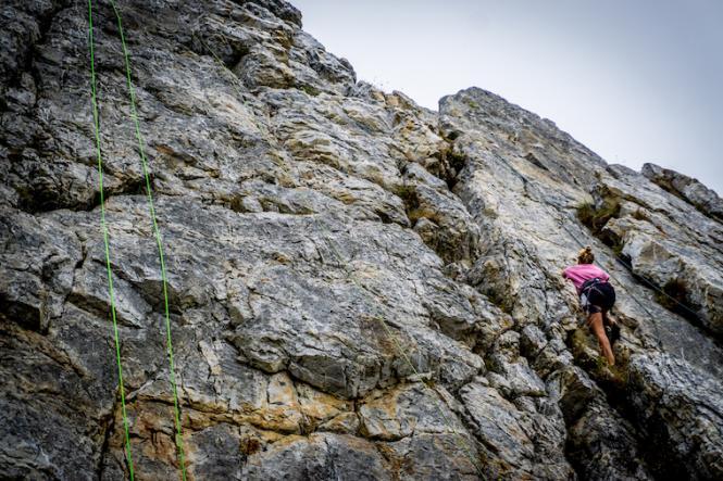 Toprope Routen von leicht bis schwer