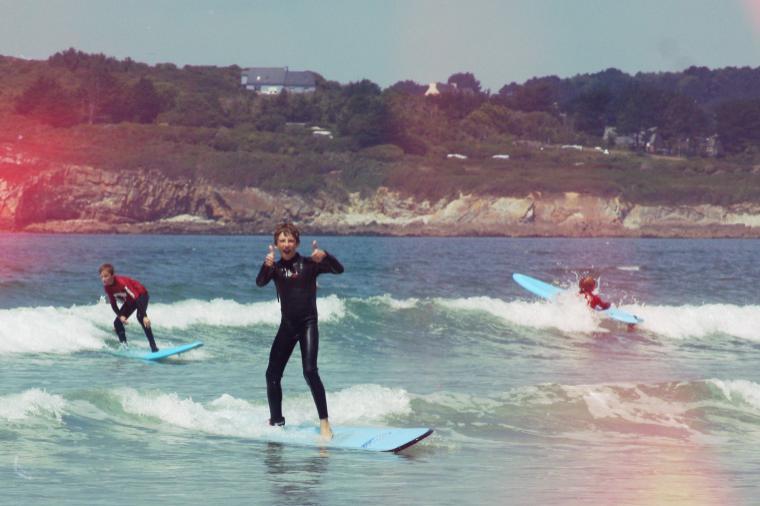 ein Tag mit kleinen Wellen gut für Anfänger