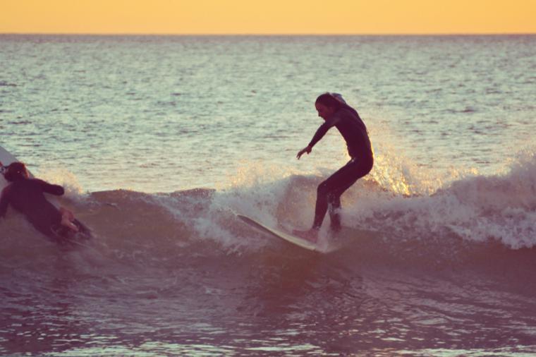 Meist haben wir die Wellen für uns alleine.