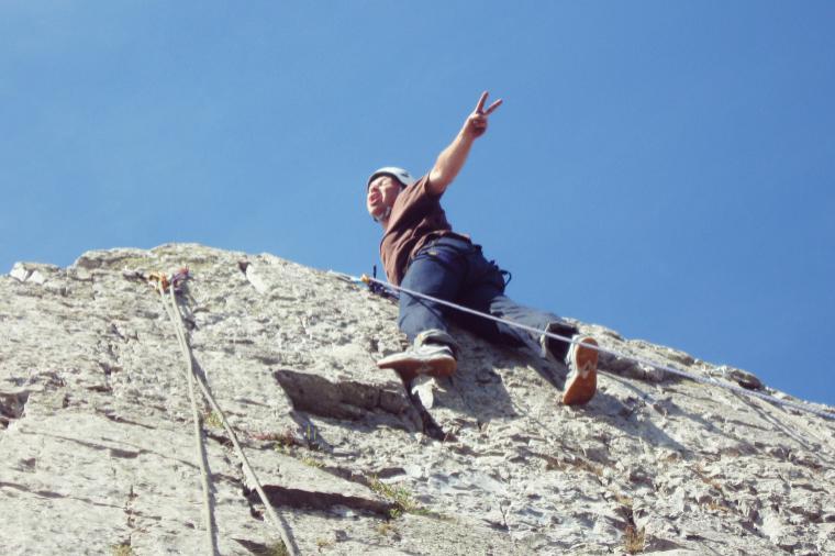 beim Klettern gilt  - alles kann, nichts muss